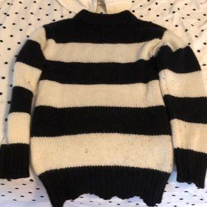 Like New Marc Jacobs black/cream wool sweater Sz M